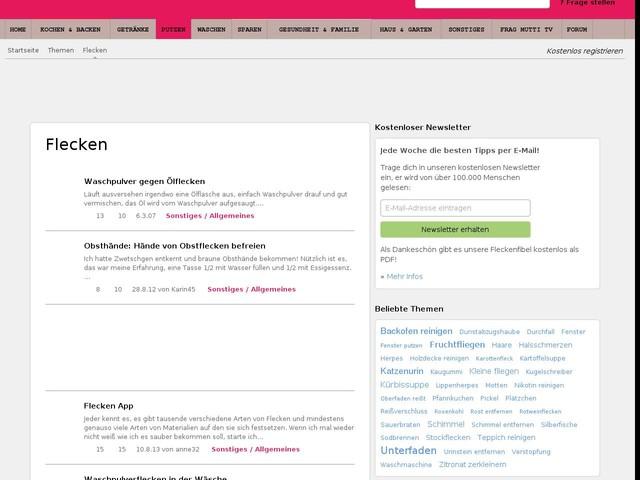 Flecken - Tipps zur Entfernung und Hausmittel bei Frag-Mutti.de