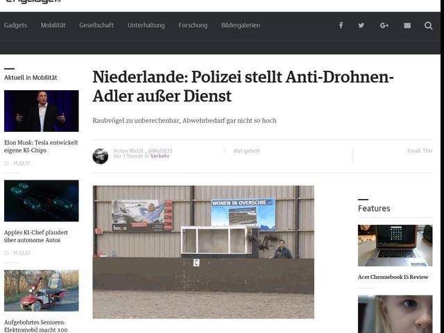 Niederlande: Polizei stellt Anti-Drohnen-Adler außer Dienst
