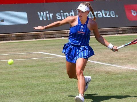 WTA-Turnier - Kurz vor Wimbledon: Kerber im Viertelfinale von Bad Homburg