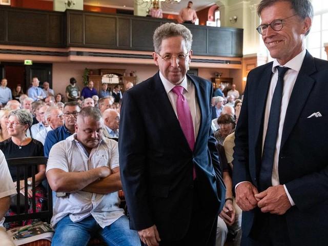 """Wahlkampfauftritt in Radebeul: Hans Georg Maaßen: Recht durchsetzen, auch wenn das """"schlechte Bilder"""" mit sich bringe"""