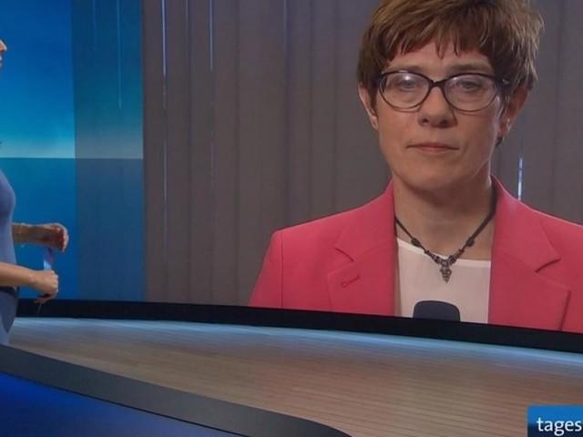 "Kuriosum in der ARD - Veraltetes Interview mit AKK: ""Tagesthemen"" liefern seltsame Begründung"
