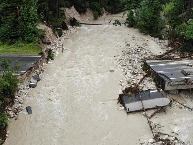 Große Überschwemmungen in Österreich seit 1990