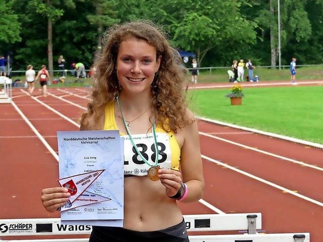 Lisa Jung von der LG Göttingen Norddeutsche Meisterin im Siebenkampf