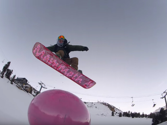 King of the Hill – Ein LED Snowboard