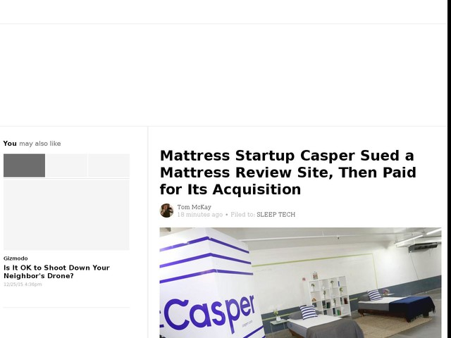 Mattress Startup Casper Sued a Mattress Review Site, Then Paid for Its Acquisition