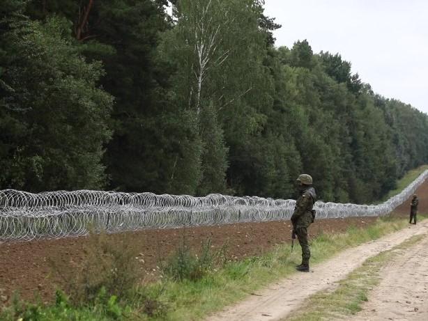 Streit um Flüchtlinge: Polen errichtet Stacheldrahtzaun an Grenze zu Belarus
