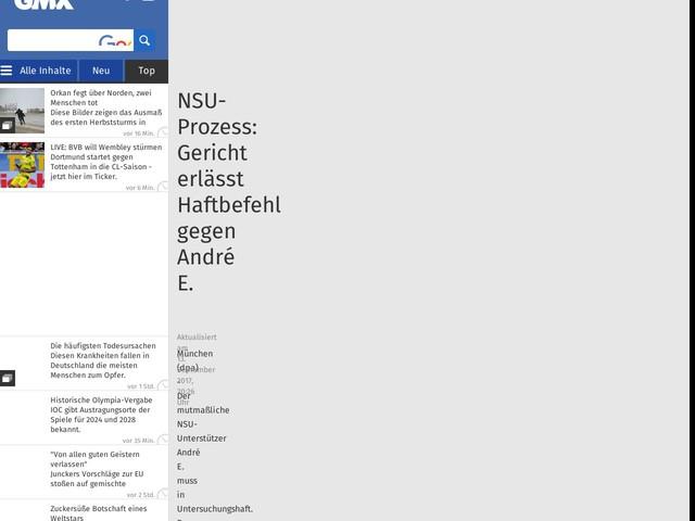 NSU-Prozess: Gericht erlässt Haftbefehl gegen André E.