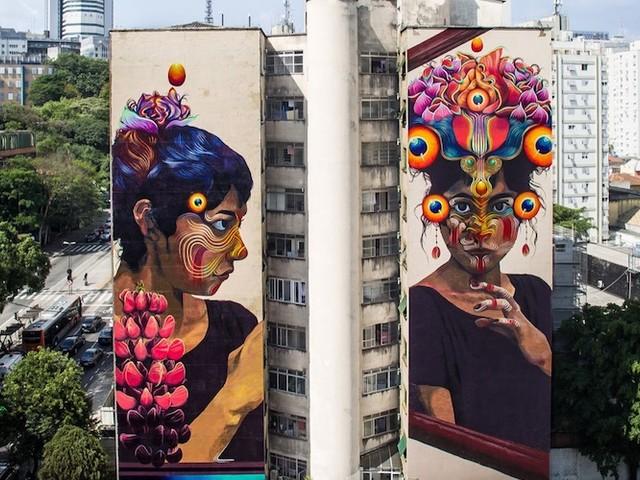 """""""The Other"""" – Gigantisches Mural von Künstlerin GLeo in São Paulo"""