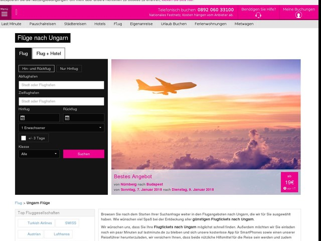 Flüge nach Ungarn ab 19€. Billigflüge Ungarn - lastminute.de