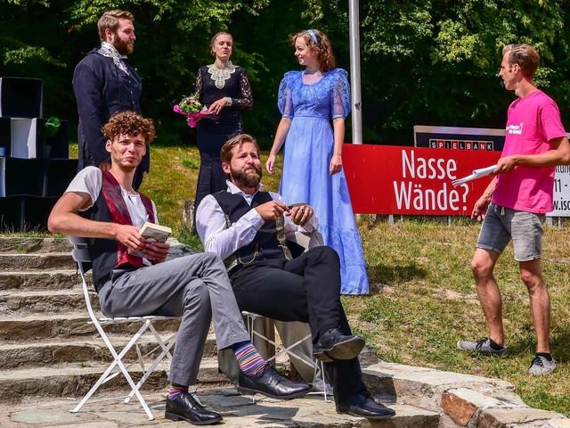 "Ensemble des ""Sommertheater im Nerotal"" probt ""Dorian Gray"" / Premiere am 22. August"