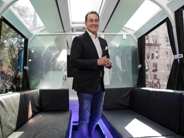 "Strache-Chats: FPÖ-Wahlkampf mit langem ""Gang Bang Bus"""