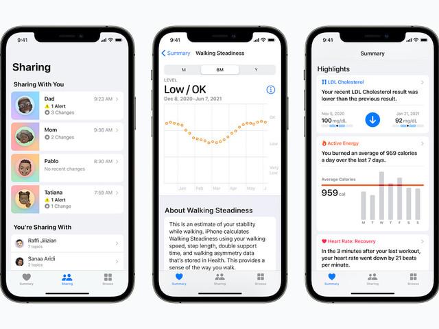 Persönliche Gesundheit: Apple führt neue Werte und Möglichkeiten zum sicheren Teilen ein
