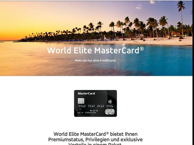 World Elite MasterCard   Kreditkarten - Reiseprämien