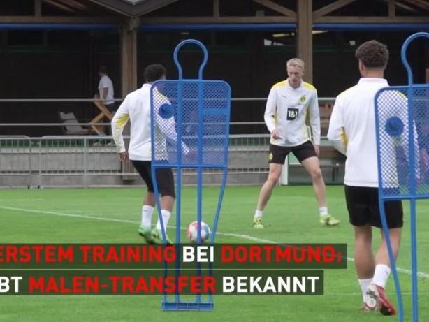 Dortmund: Neuzugang Malen trainiert erstmals mit dem BVB