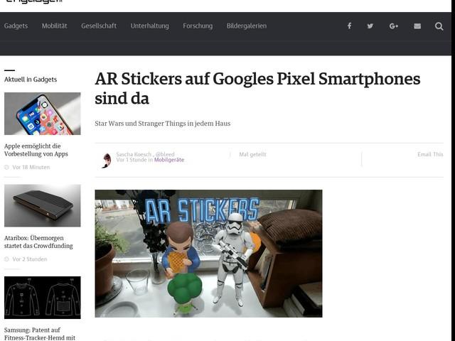 AR Stickers auf Googles Pixel Smartphones sind da