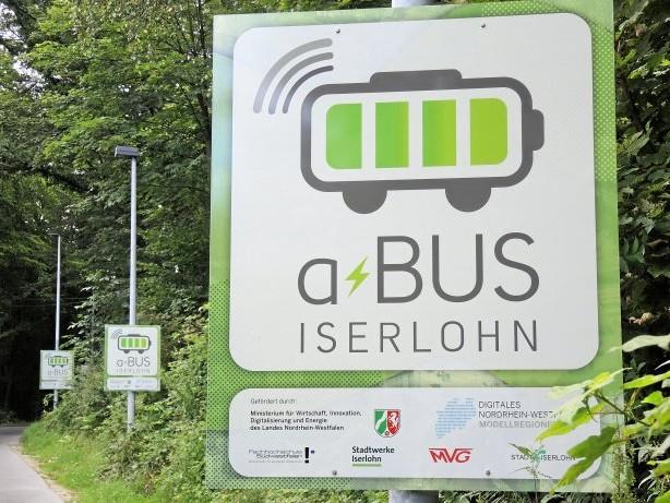 """Mobilität: Mit Lokalisierungspanels kriegt Iserlohner """"a-Bus"""" die Kurve"""