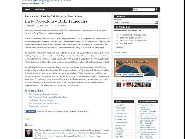 Dirty Projectors – Dirty Projectors