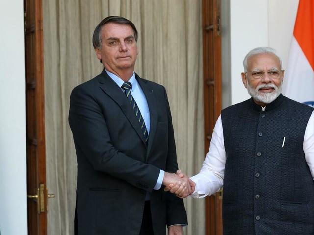 Schwellenländer: Modi und Bolsonaro: Indien und Brasilien wollen Handel ausbauen