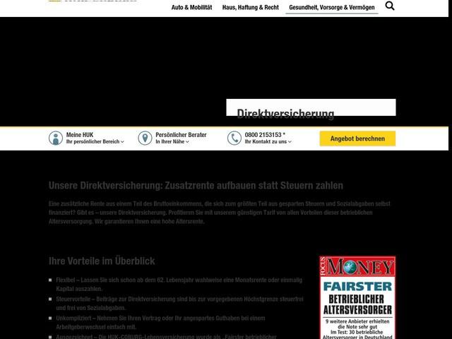 Direktversicherung | HUK-COBURG