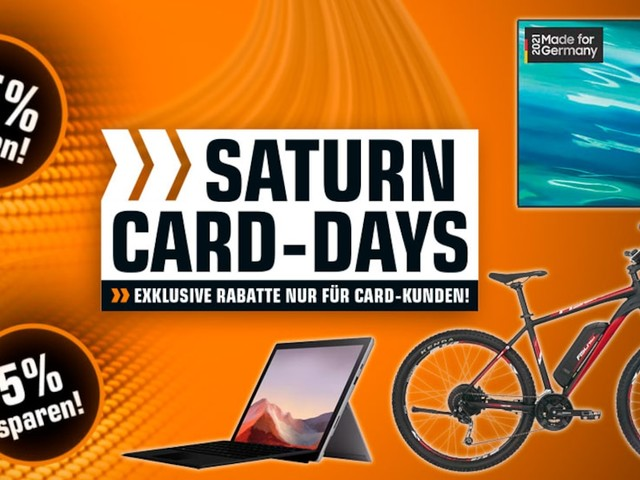 Saturn Card Days - Besser als der Prime Day? Exklusive Saturn-Angebote nur noch bis Sonntag
