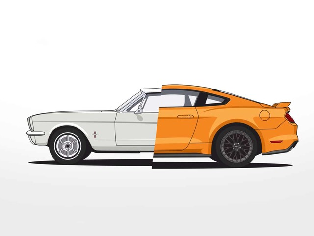 Evolution des Ford Mustang