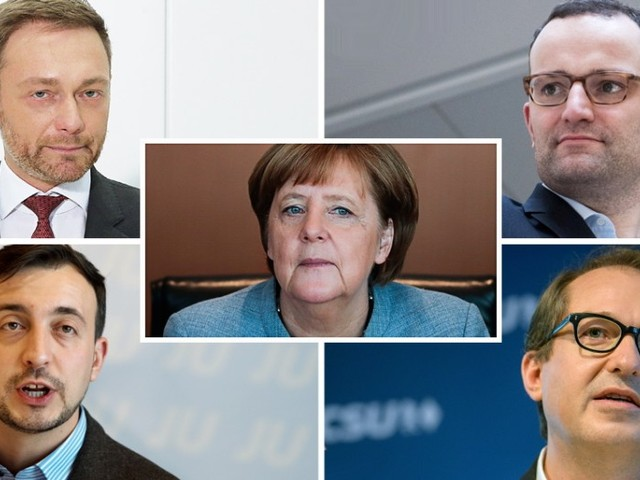 Angela Merkel und die jungen Männer