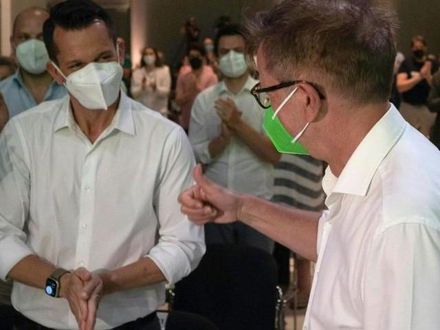 Das war Anschobers Überraschungsbesuch am Grünen Bundeskongress