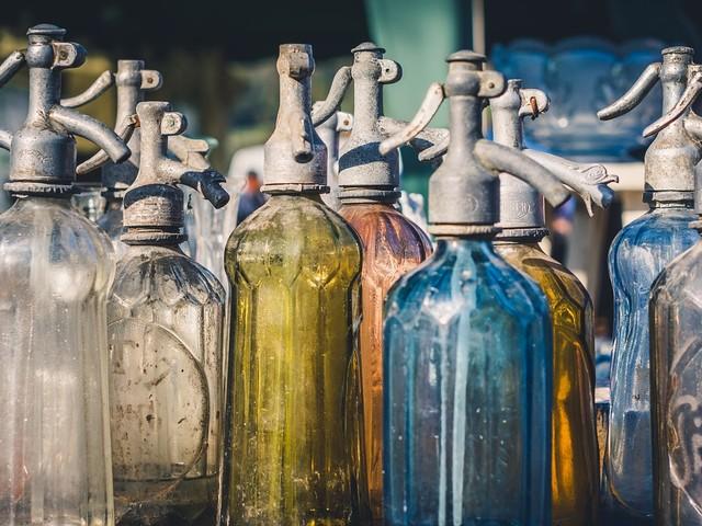 Flaschen aufstellen