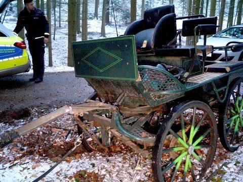 Mann bei Kutsch-Unfall schwer verletzt: Pferd verendet