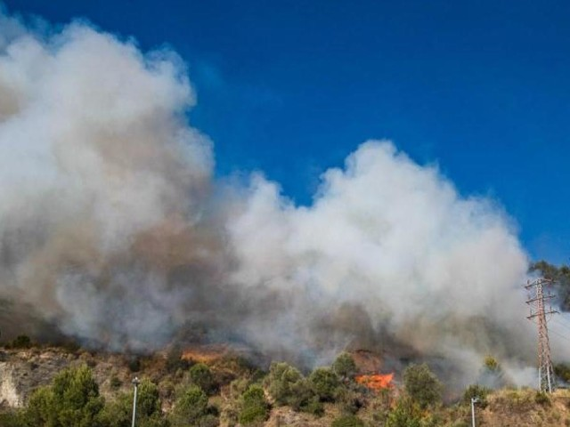Waldbrand westlich von Barcelona außer Kontrolle
