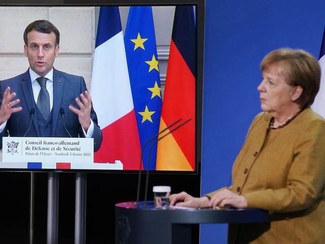 Konflikt um Ostukraine: Kreml fordertMerkel und Macron zum Handeln auf