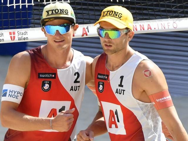 Nur ein Sieg für Österreichs Beachvolleyballer beim EM-Auftakt