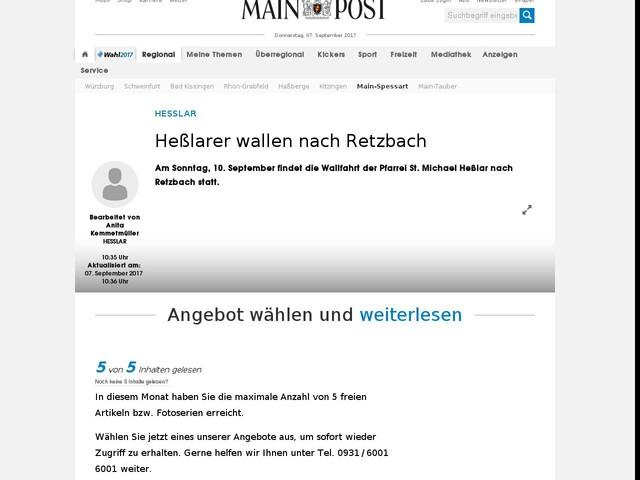 Heßlarer wallen nach Retzbach