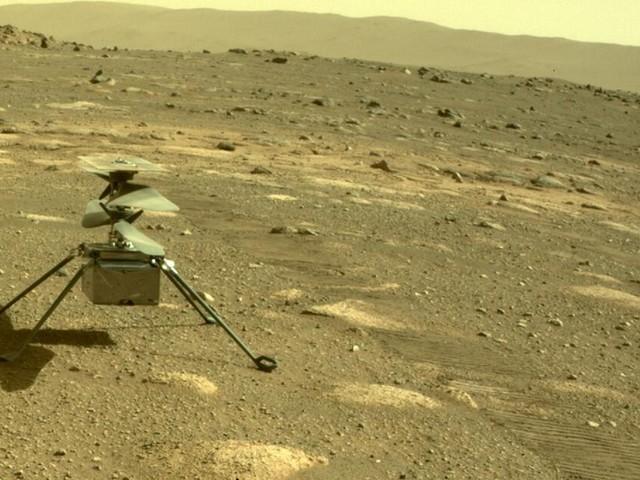 Mars-Hubschrauber landet an anderer Stelle - Flug-Töne veröffentlicht