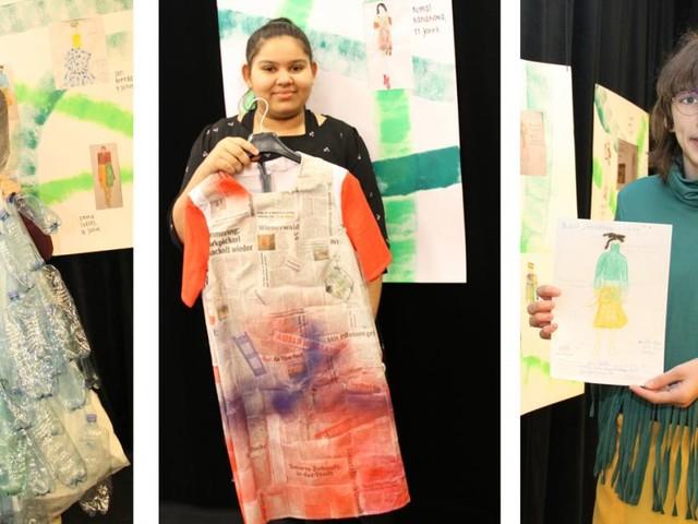 Modelle junger Modeschöpfer_innen, die Botschaften vermitteln