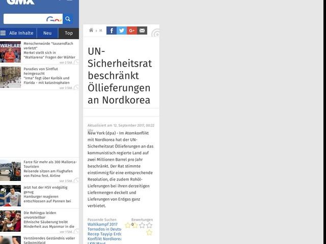 UN-Sicherheitsrat beschränkt Öllieferungen an Nordkorea