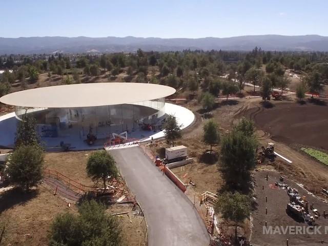 Neues Drohnenvideo zeigt unter anderem Steve Jobs Theater