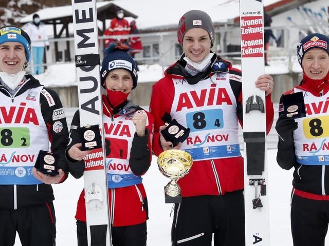 ÖSV-Mixed-Skisprungteam im letzten Test vor der WM Dritter