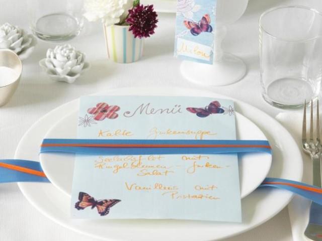 ▷ Tischkärtchen & Menükarten - Ideen zum Selbermachen - [LIVING AT HOME]