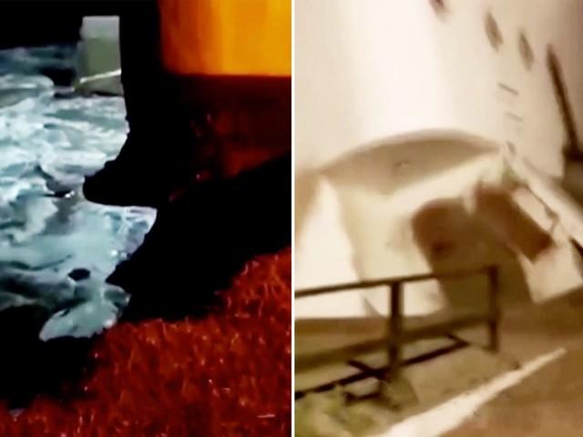 Augenzeugenvideo: Nach starken Regenfällen: Wohnhaus in Argentinien stürzt ins Meer