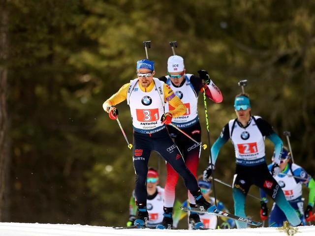 Biathlon-WM - die Herren-Staffel aus Antholz