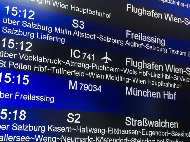 Vergleich: Per Zug von Salzburg zum Flughafen München oder Wien?