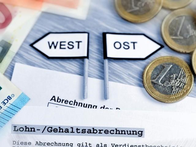 Einkommen in Ost und West gleichen sich immer mehr an