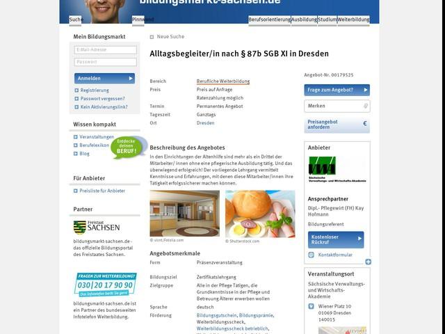 Alltagsbegleiter/in nach § 87b SGB XI in Dresden - bildungsmarkt-sachsen.de
