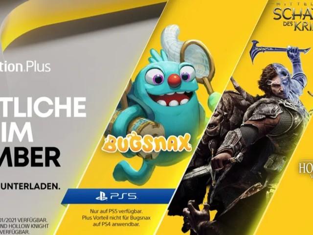 PlayStation Plus: Im November 2020 mit Mittelerde: Schatten des Krieges, Hollow Knight und Bugsnax (PS5)