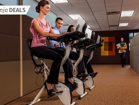Get a Workout While You Work With a Discounted FitDesk