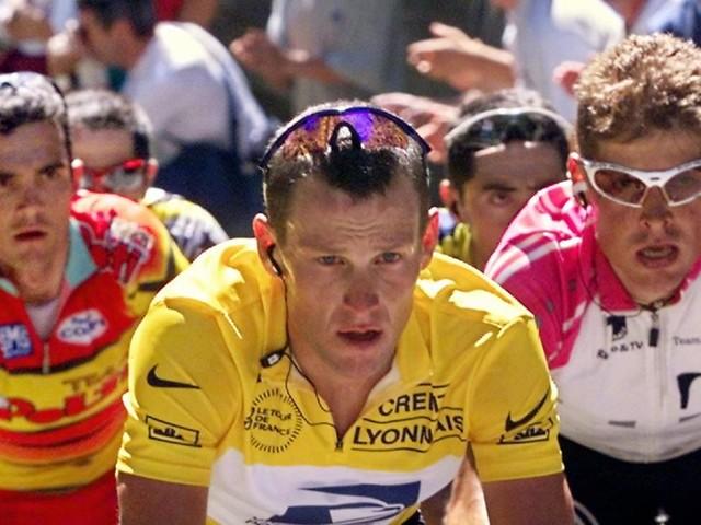 Die Doping-Sünder Armstrong und Ullrich radeln Hand in Hand