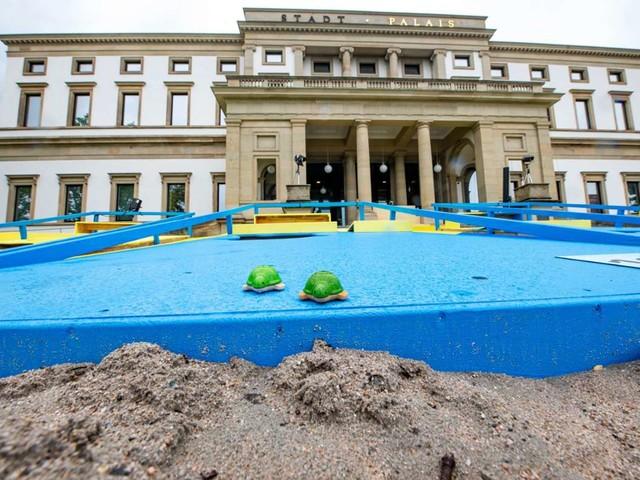 Stuttgart: Veranstaltung fällt ins Wasser: Ebbe bei der Stadt am Meer