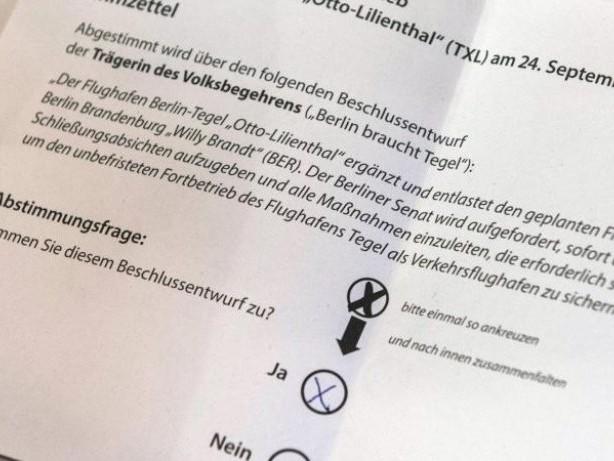 Volksentscheid: Mehrheit für Offenhaltung von Berliner Flughafen Tegel