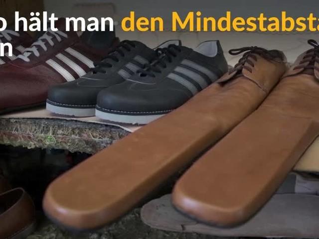 Video: Schuhe für den Mindestabstand